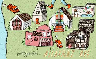 map alcatraz ave